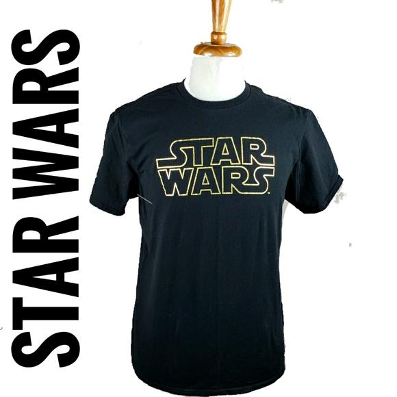 STAR WARS T-SHIRTS BLACK & GOLD SIZE LARGE, X LARG
